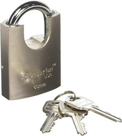 Tough Heavy Duty Iron 50mm PADLOCK With 3 Keys Garage Home Security Safety Lock