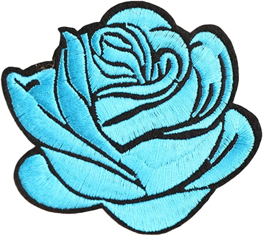 CHoppyWAVE Rose Badge Applique Art Crafts for DIY Clothing Accessories,Iron On Patch Decoration Flower Bag Hat Applique Clothing Accessory Black