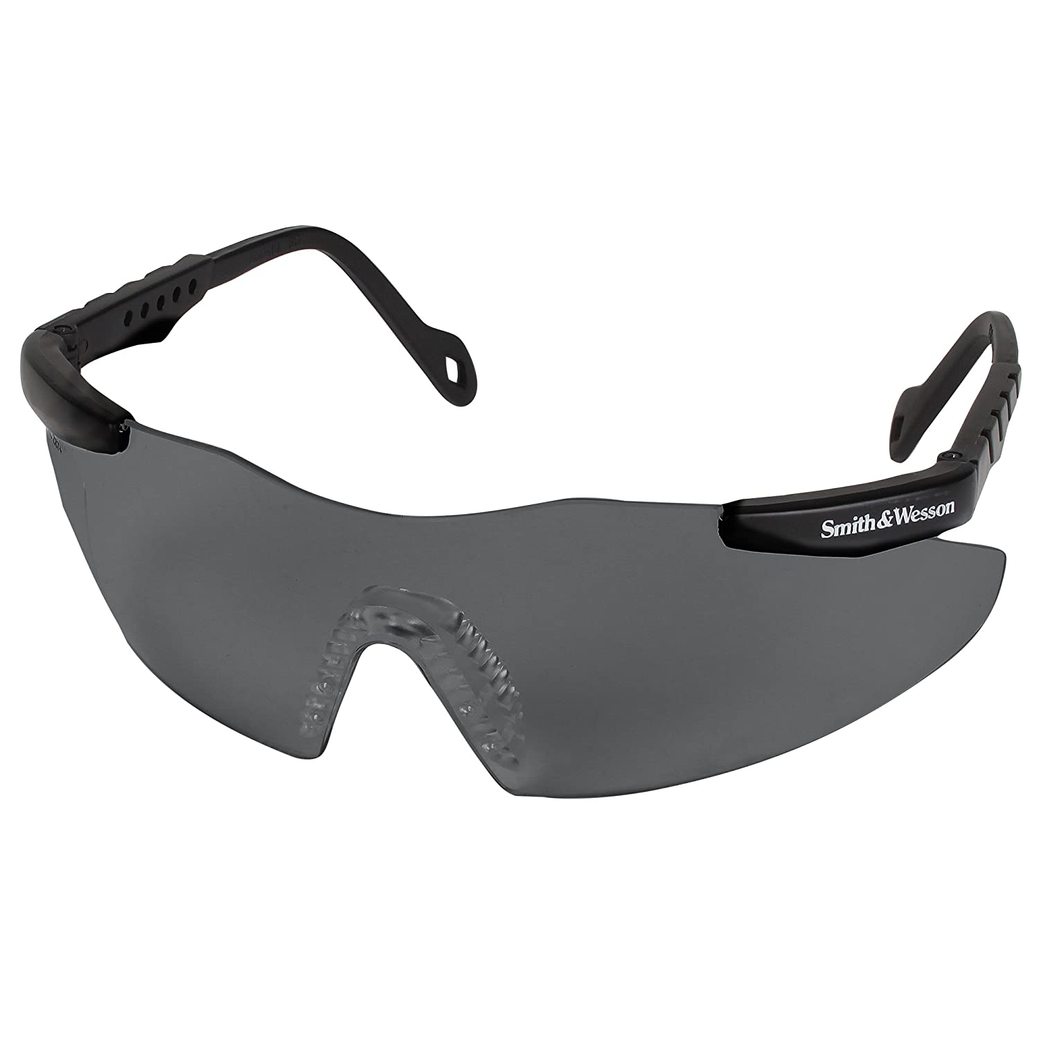 Smith and Wesson Safety Glasses (19823), Magnum 3G Safety Eyewear, Smoke Lenses with Black Frame