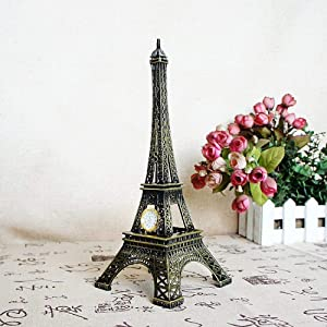 DAJIADS Statues,Table Sculpture Modern Sculpture Statue Parisian Style Eiffel Tower Metal Sculpture Iron Abstract Sculpture for Home Ornaments,25Cm
