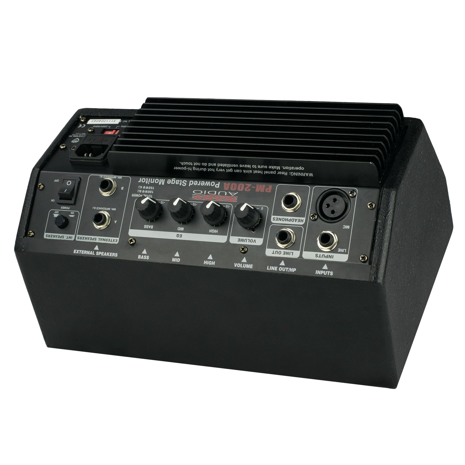 """line // speaker // headphones outputs Nady PM-200A Powered Personal Stage Monitor XLR and /¼/"""" inputs 150W RMS"""