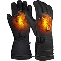 Decdeal Electric Heated Gloves for Men and Women Motorcycle Ski Snowboard