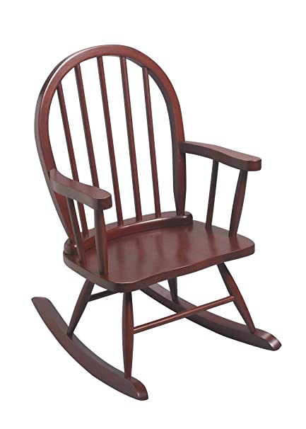 Brilliant Gimark Childrens Windsor Rocking Chair In Cherry Color Gmtry Best Dining Table And Chair Ideas Images Gmtryco