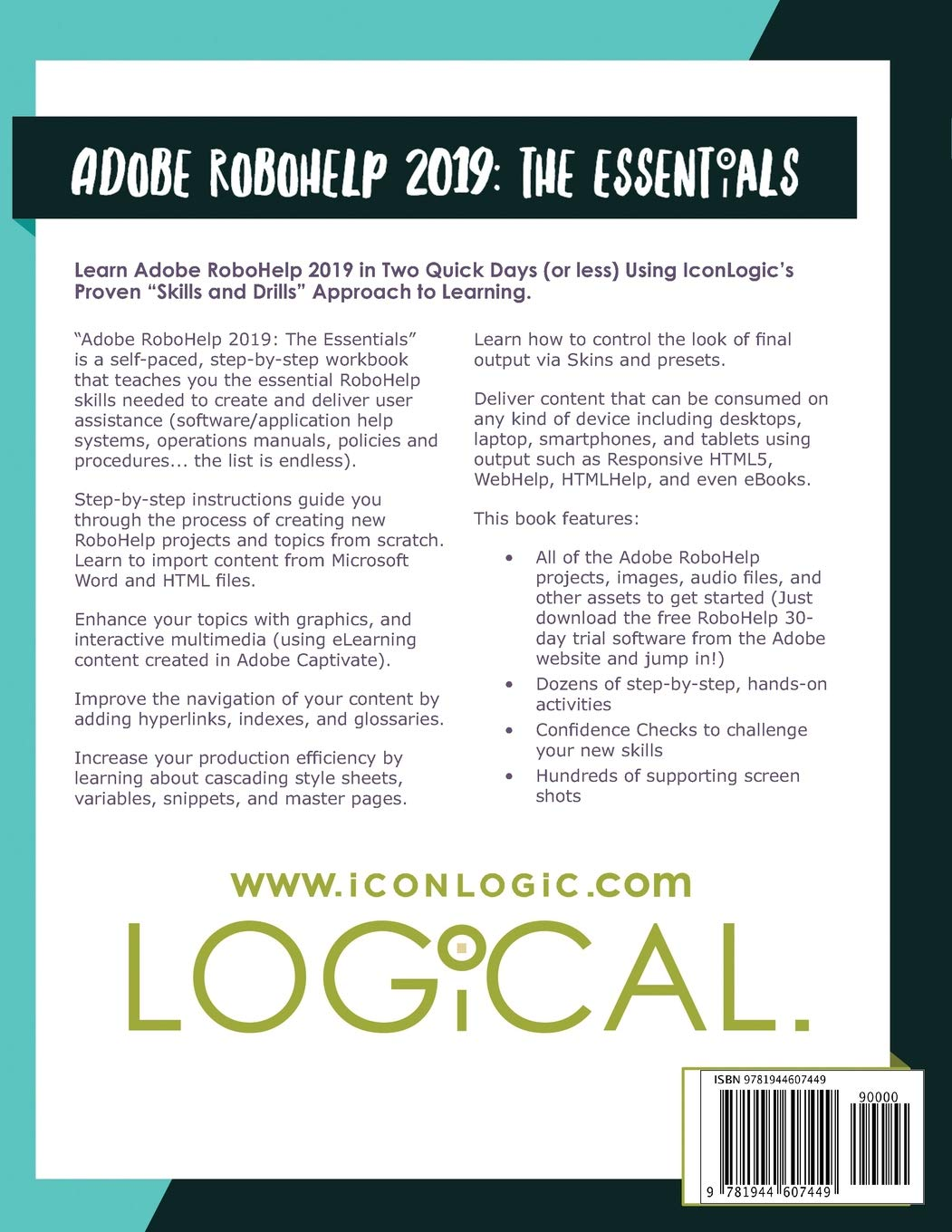 Amazon Com Applicationhelp >> Adobe Robohelp 2019 The Essentials Kevin Siegel Willam Van