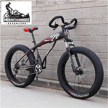 NENGGE Hard Tail MTB Neumático Gordo para Adulto, Hombre Mujer Profesional Suspensión Delantera Bicicleta Montaña, Doble Freno Disco Bicicleta BTT Ciclismo Marco Rígido,Negro,26 Inch 21 Speed: Amazon.es: Hogar