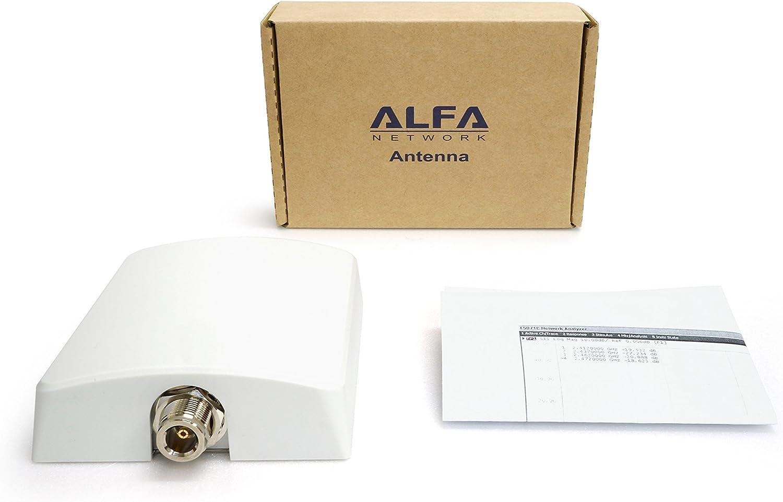 Alfa APA-L2410 2.4 GHz 10 dBi directional panel antenna for Camp Pro 2, Tube, Bullet