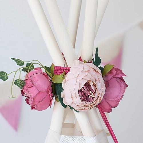 Teepee Topper from Peonies Garland Nursery garland Wedding garland Floral Garland for Boho Teepee Decor