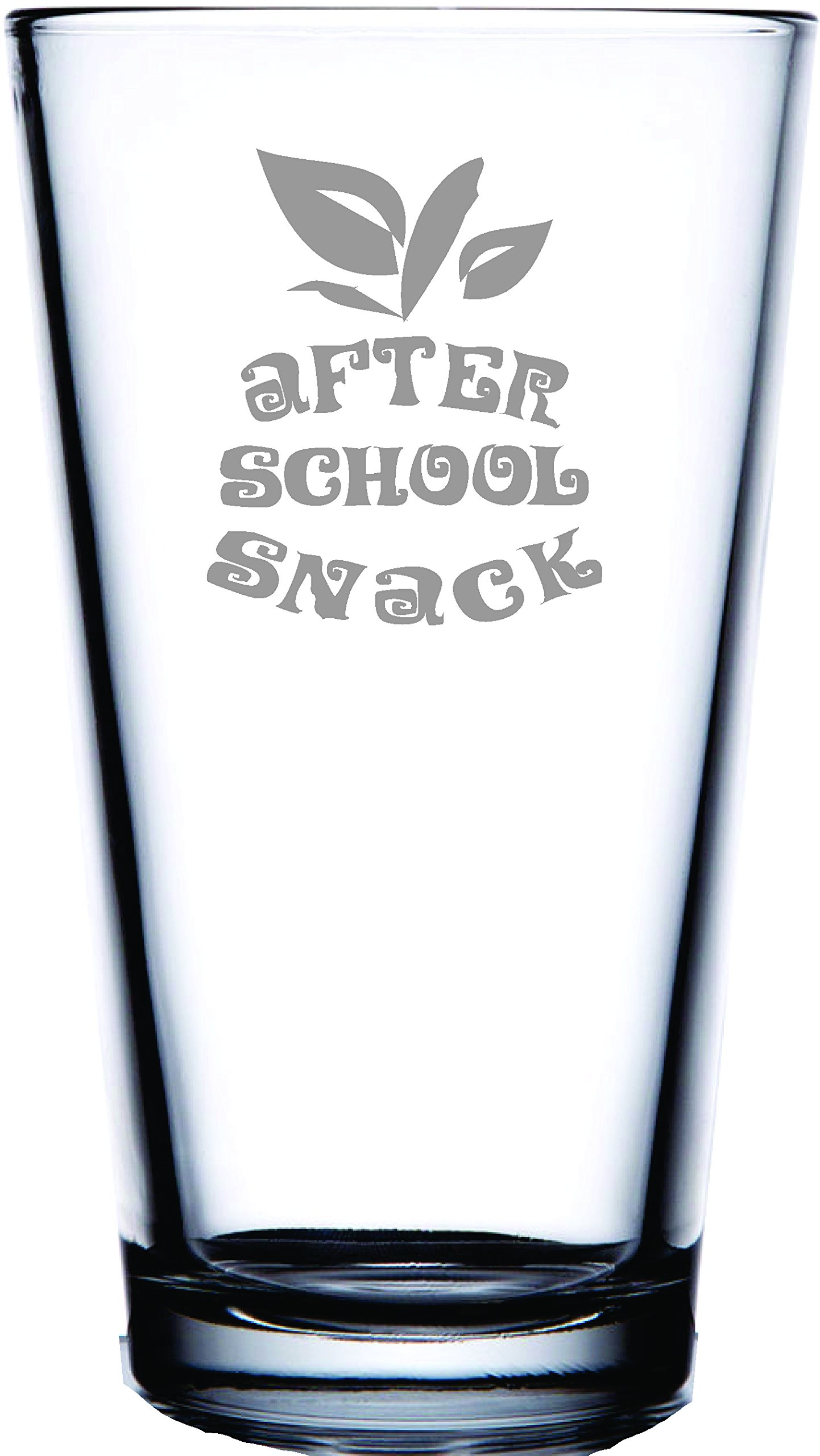 After School Snack-Pint Pub Beer Glass Perfect gift for Teacher, Professor, Instructor or Student!