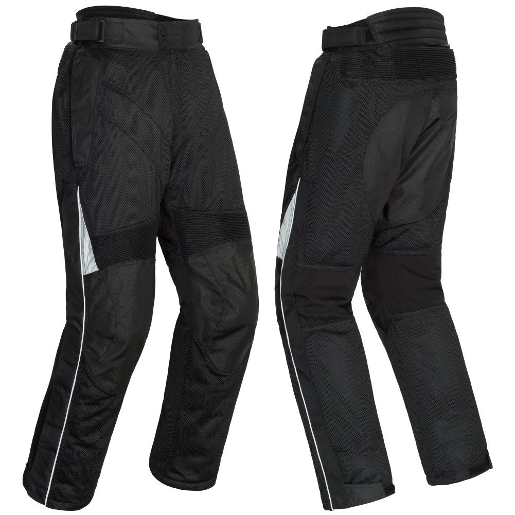 Tourmaster Venture Air 2.0 Men's Textile Motorcycle Pant (Black, Medium)