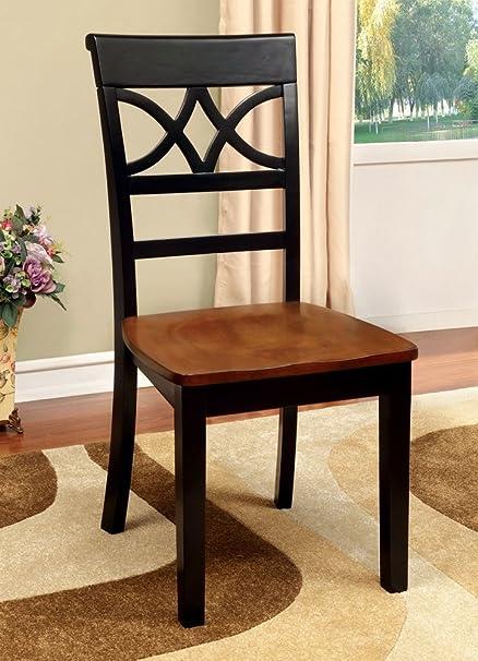 Marvelous Amazon Com 247Shopathome Idf 3552Bc Sc Dining Chairs Black Inzonedesignstudio Interior Chair Design Inzonedesignstudiocom