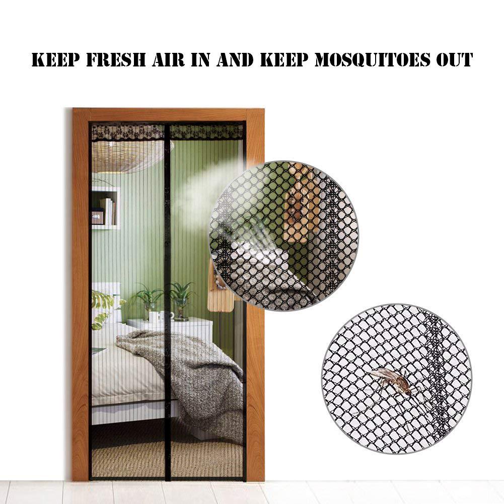 Vorhang f/ür Balkont/ür Wohnzimmer Schiebet/ür Terrassent/ür Pig pecs Fliegengitter T/ür Insektenschutz Magnet Fliegenvorhang Magnetvorhang f/ür T/üren-Klebmontage ohne Bohren