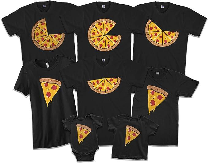 Amazon.com: Pizza Pie & Slices - Juego de camisetas ...