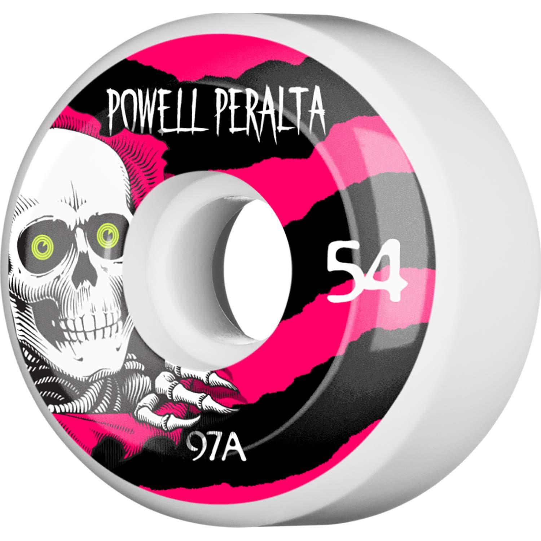Powell Peralta Ripper 4 54mm 97a White W//BLK//Pink Wheels Set