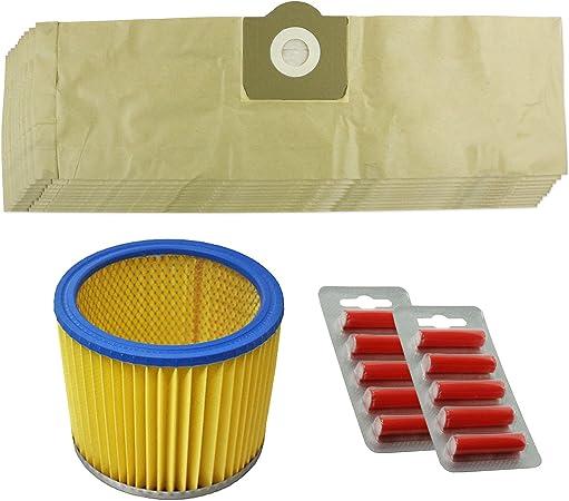 Spares2go Kit de bolsas y filtro para aspiradora Parkside/Lidl PNTS 1300 1400 1500 (10 unidades), con ambientadores: Amazon.es: Hogar