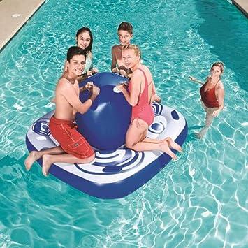 Piscina Flotante Inflable En La Isla, con Capacidad para 4 Adultos ...
