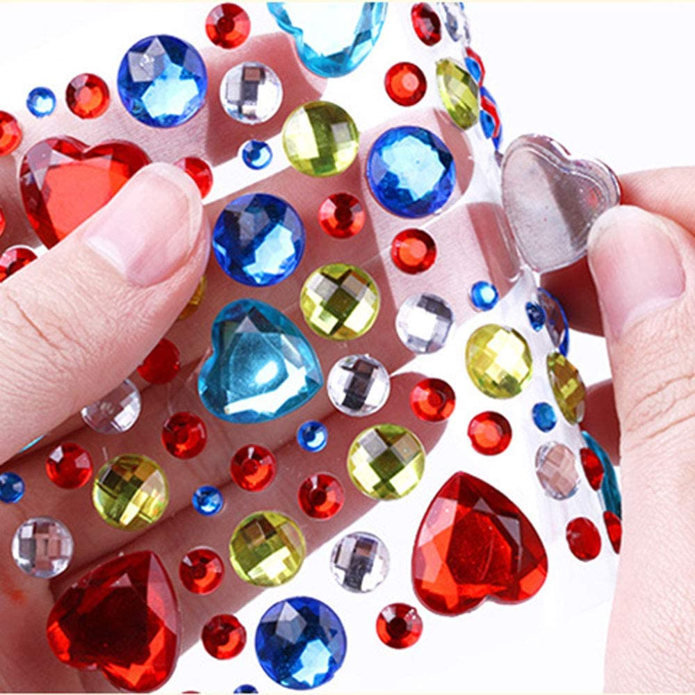 AILANDA 3139 pcs Autocollant Strass Crystal Gems Strass Adh/ésifs Multicolores Taille Assortie pour Ongles Deco DIY Albums Ongles Arts Craft