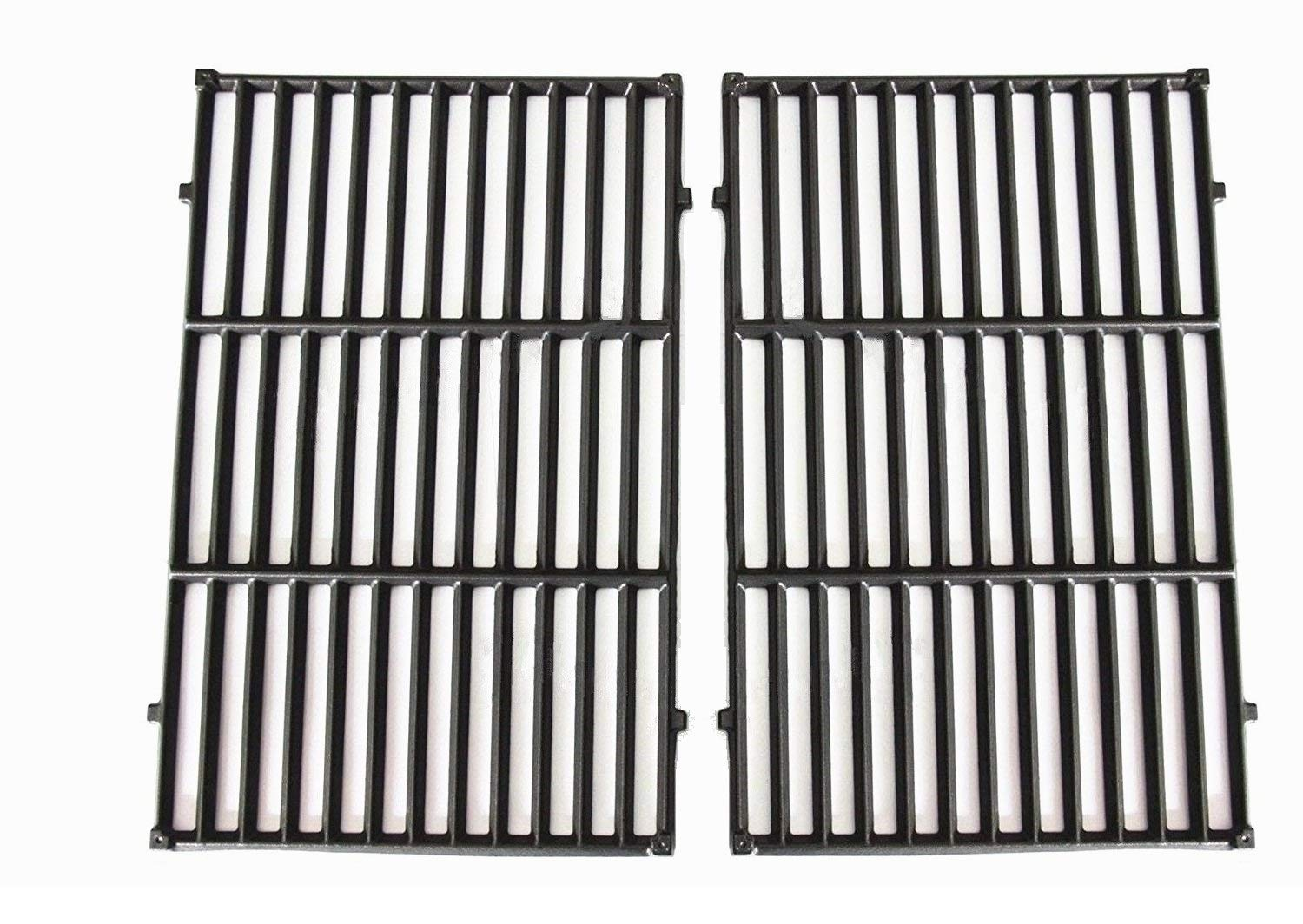 """Hongso 19.5"""" Cast Iron Cooking Grid Grates Replacement for Weber Genesis E-310, E-320, E-330, Genesis S-310, S-320, S-330, Genesis EP-310, EP-320, EP-330 Gas Grill, Set of 2, 7524 307524 40312501"""