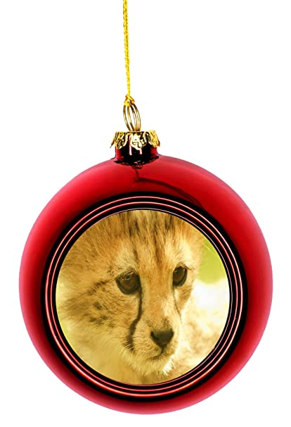 Cheetah Cub Wildlife Animals Ornaments Red Bauble Christmas Ornament Balls - Amazon.com: Cheetah Cub Wildlife Animals Ornaments Red Bauble