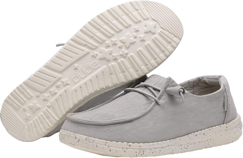 Dude Shoes Donna Wendy Lavato Grigio Chiaro