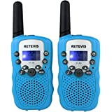 Retevis RT-388 Paire de Talkies Walkies Enfant PMR446 0.5W Ecran LCD Lampe Torch VOX (Bleu)