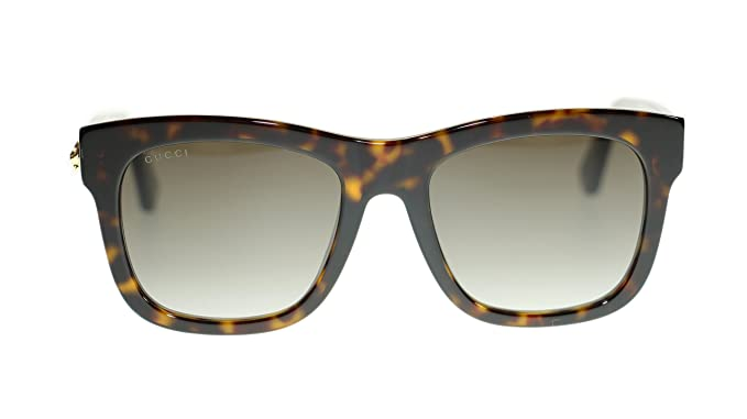 4577c9742a Image Unavailable. Image not available for. Colour  Gucci Women Rectangular  Sunglasses GG0032S 002 Havana Brown Lens 54mm Authentic