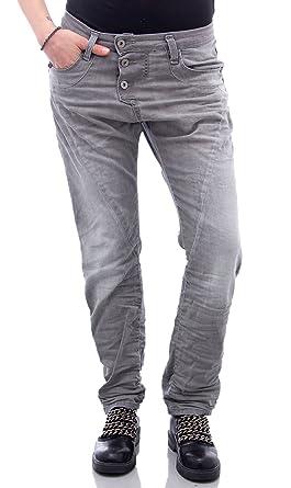 c35256cf2312 Please Jeans Damen Baggy Boyfriend P78A s Grau  Amazon.de  Bekleidung
