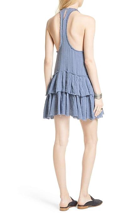 c8dd65c5ad2642 Free People Womens Vanessa Mini Sleeveless Babydoll Dress Blue XS at Amazon  Women s Clothing store