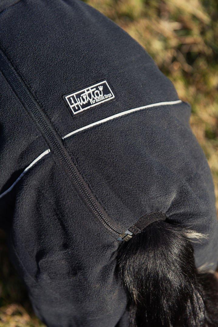 Nero Hurtta Collection Micro Tuta in Pile per Animali Domestici