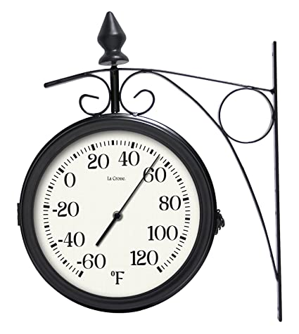 lacrosse 104 730 8 dual outdoor clock thermometer - Outdoor Clock Thermometer