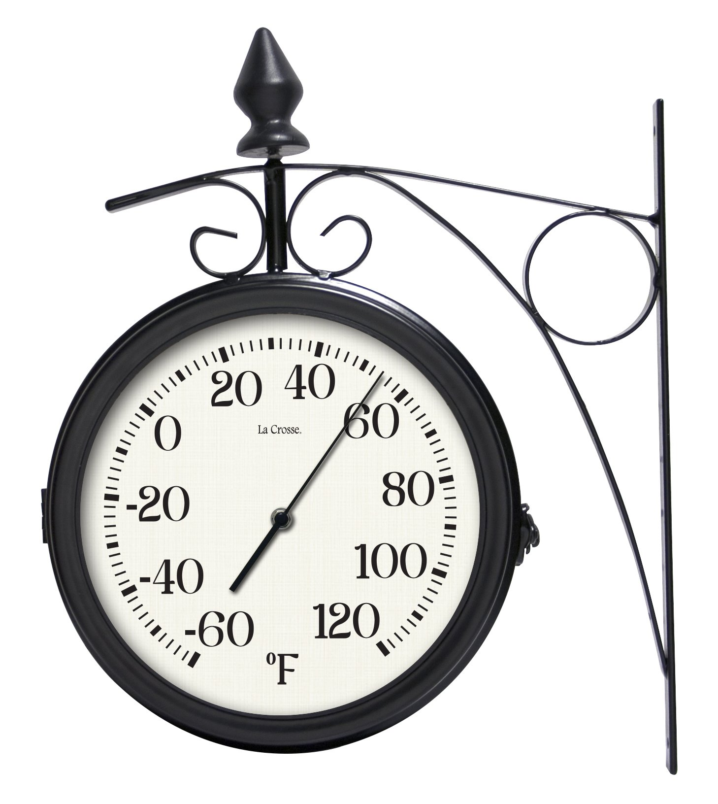 Lacrosse 104-730 8'' Dual Outdoor Clock & Thermometer by Lacrosse
