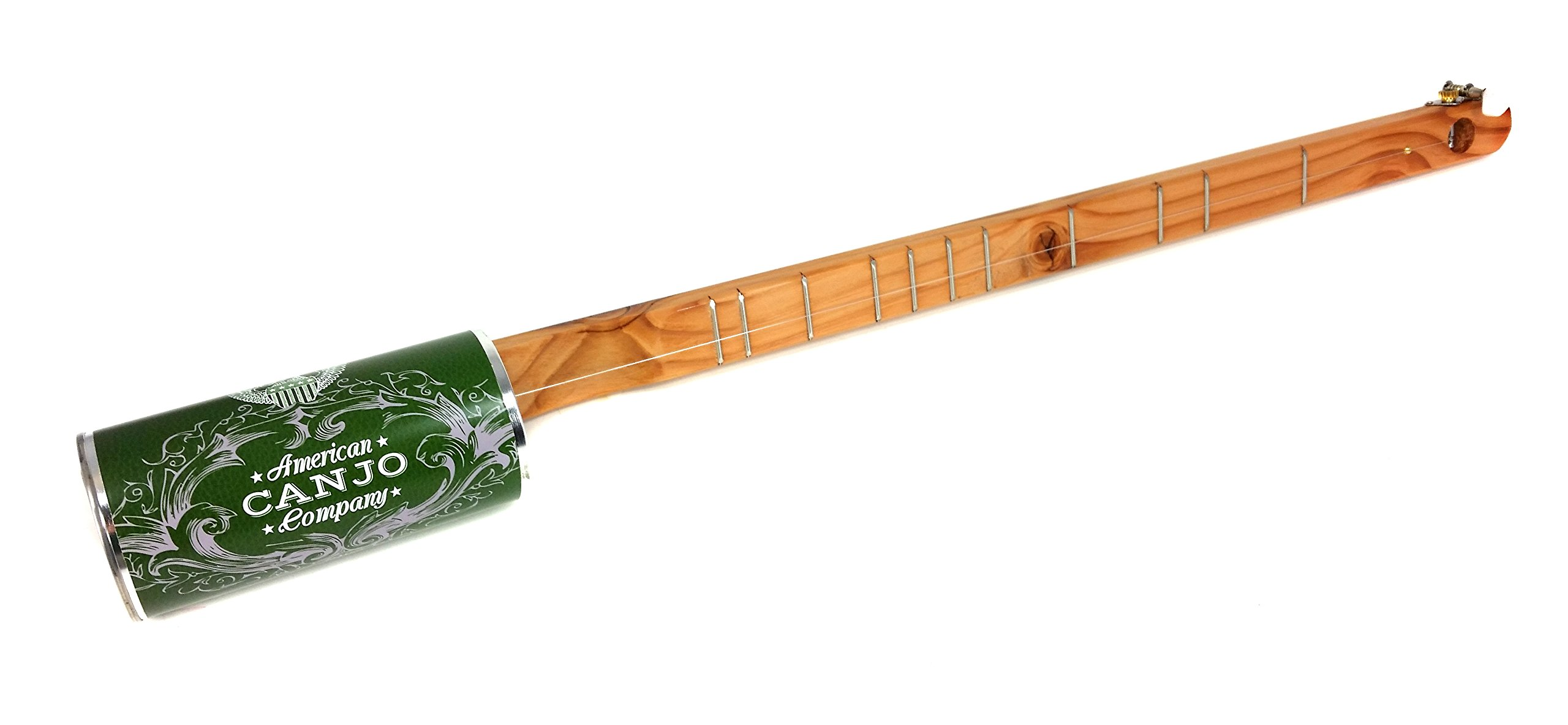 ''Old Faithful'' Hand-made One-String Acoustic Canjo/Tin Can Banjo - Fun & Easy to Play!
