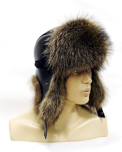 Amazon.com  Men s Fur Hat Ushanka Fur of Natural Fur Raccoon.  Handmade 67ea3587855