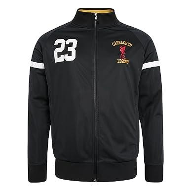 1843e08a4 Liverpool FC LFC Mens Black Jamie Carragher 23 Full Zip Sport Jacket NWT  Official