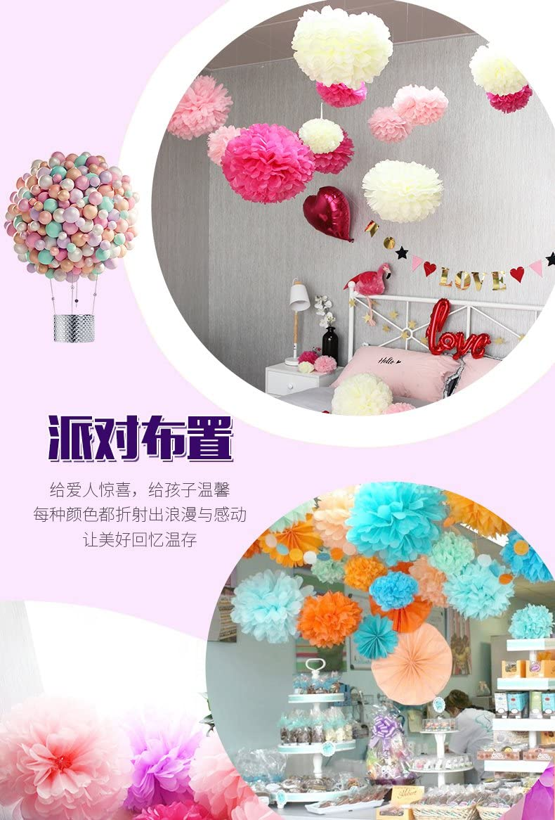 10 Inch Sopeace 21Pcs Navy Blue Paper Pom Poms 14 Inch 12 Inch 8 Inch Blue Set Flower Ball for Birthday Wedding Party Outdoor Baby Shower Decoration