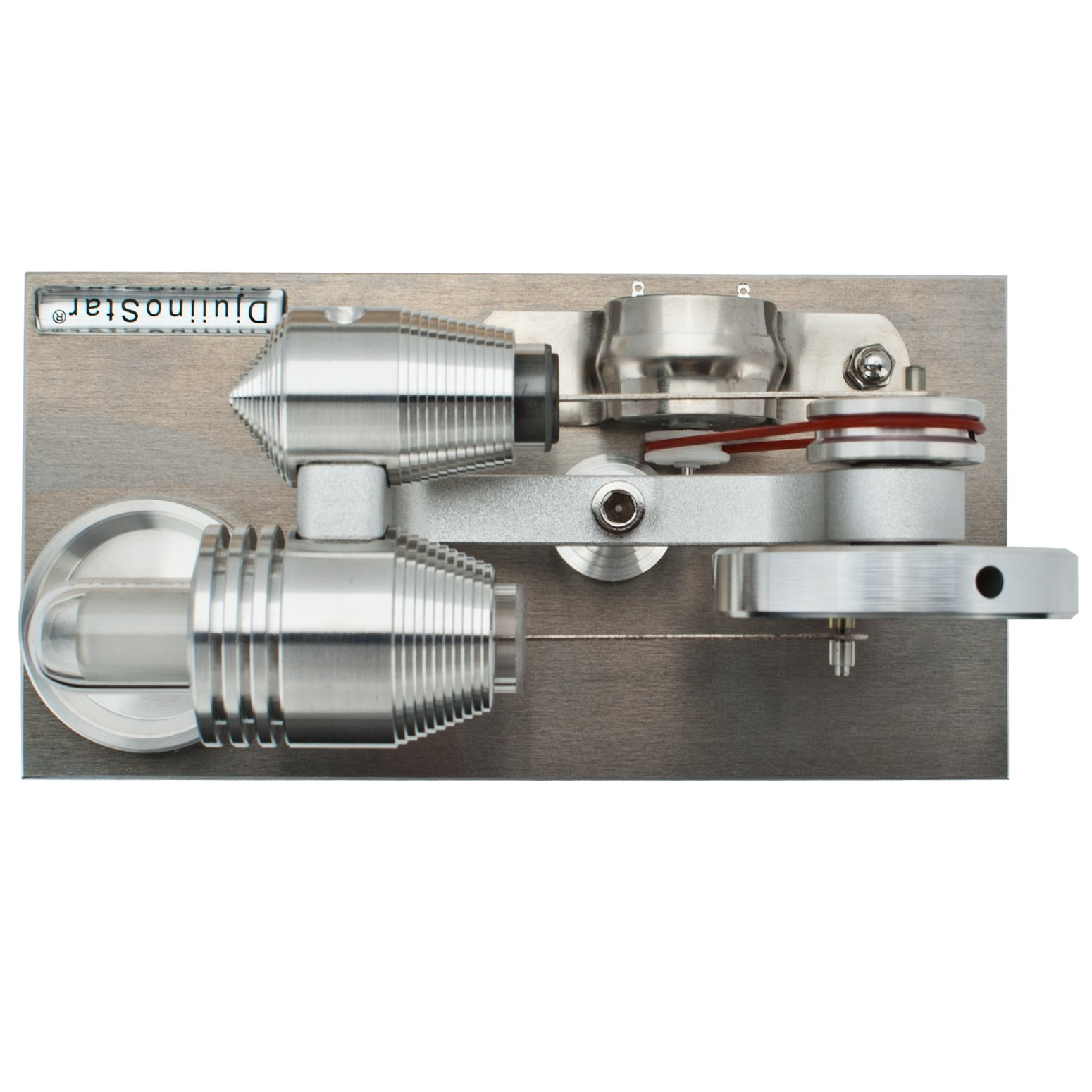 DjuiinoStar Hot Air Stirling Engine, Solid Metal Construction, Electricity Generator(Assembled), My First Stirling Engine by DjuiinoStar (Image #6)