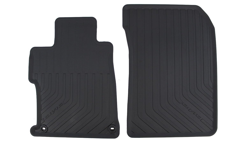 Honda Genuine Accessories 08P13-TS8-110A Black All Season Floor Mat for Select Civic Models