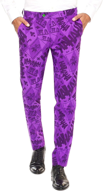 OppoSuits The Joker – Licensed Superhero Halloween Costumes for Men – Full Suit: Jacket, Pants And Tie Abito da Uomo Viola