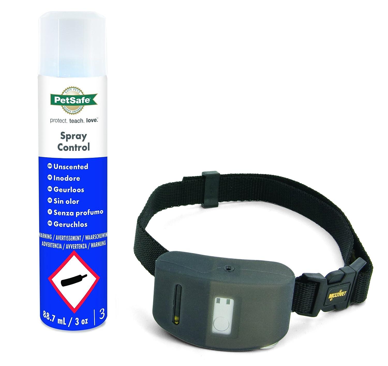 PetSafe - Collier Anti-aboiement pour Chien à Spray + 1 recharge Spray Inodore, Collier de Dressage Etanche, Ajustable KIT11124