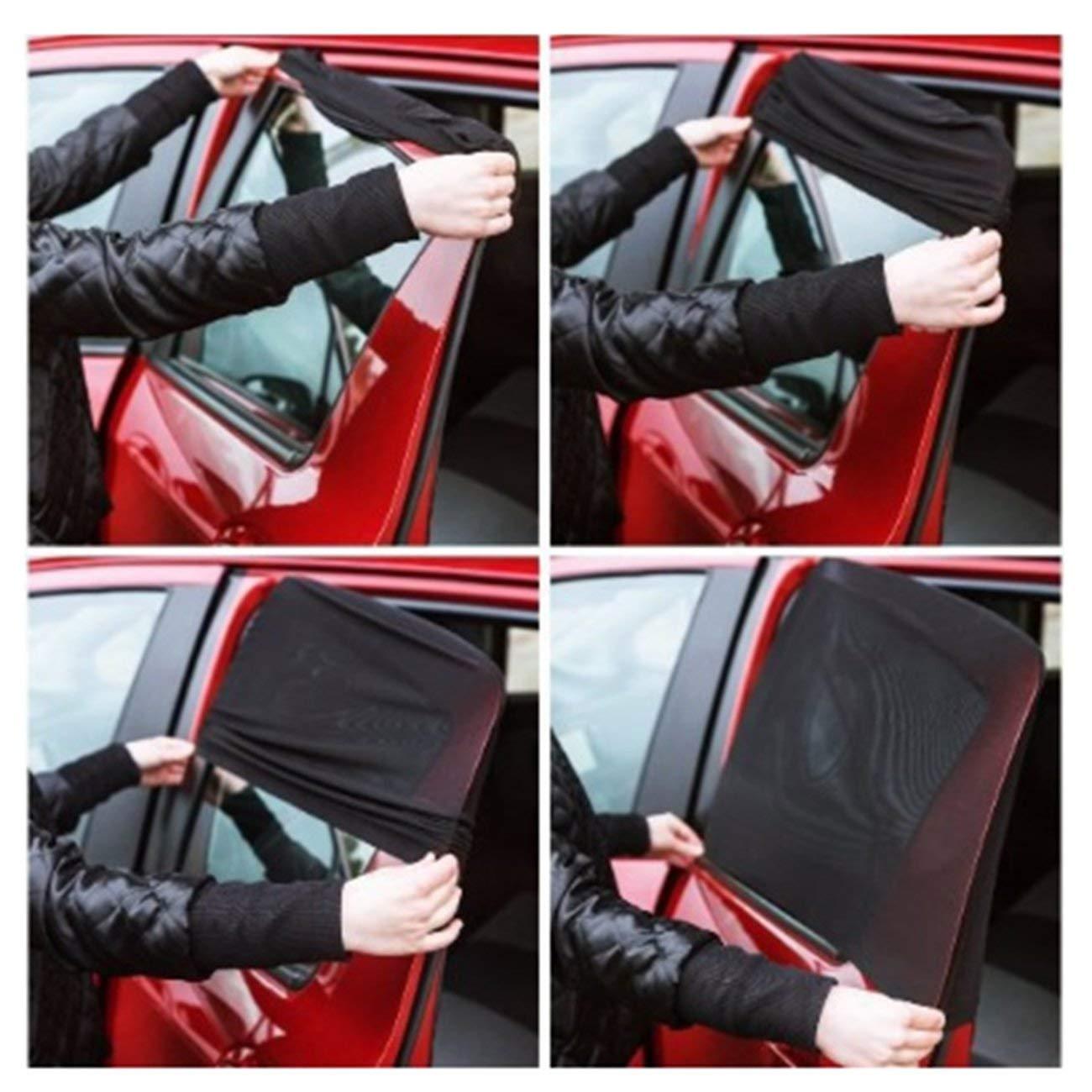 Fannty 1 pair Car Curtain window sunshade summer sunscreen mosquito blind shade hood