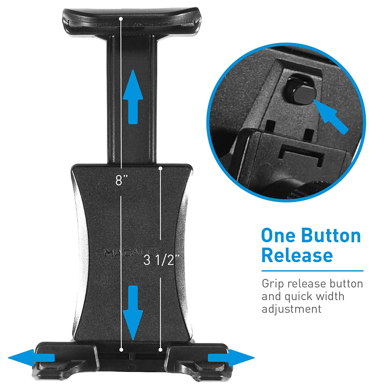 S8 S7 Note /& Most Cell Phones Macally Universal Magnetic Car Cup Holder Mount for iPhone Xs XS Max XR X 8 Plus 7 7 Plus 6s 6 6 Plus Samsung Galaxy S9 S9 MCUPMAG