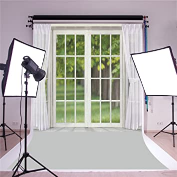 susu 5x7ft bedroom background for photography glass window white curtain backdrop photo for wedding booth - Bedroom Background