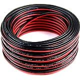 18 Gauge 50' Speaker Wire Copper Clad Red Black Zip Cable 12 Volt Low Voltage