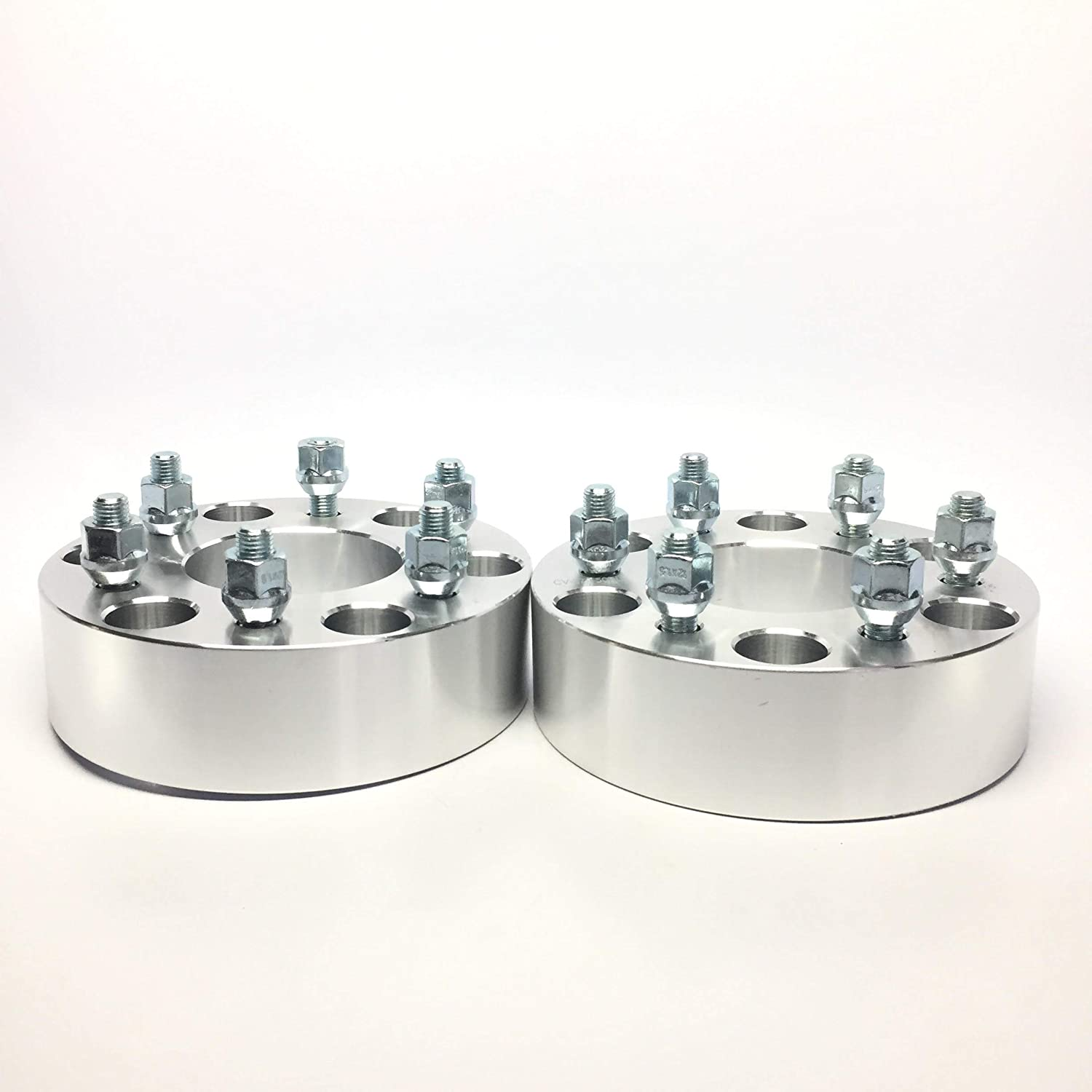 2 Pieces 1.5 38mm Hub Centric No Lip Wheel Adapters Spacers Bolt Pattern 6x5.5 to 6x5 6x139.7 to 6x127 Thread Pitch 12x1.5 Center Bore 78.3mm Fits Chevy
