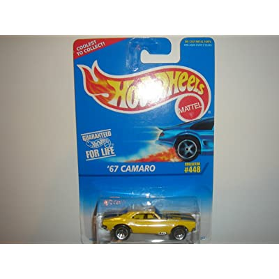 Hot Wheels - '67 Camaro (Chevrolet) - Collector #448 - Yellow Body Color - 5 Hole Wheels - Malaysia: Toys & Games
