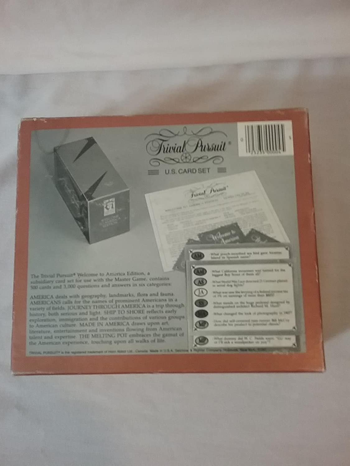Horn Abbott LTD for use with the Master Game No Welcome to America Edition Card Set Trivial Pursuit 4