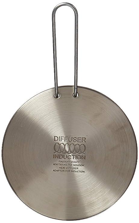 Ilsa Difusor Universal de Calor, Adaptador de inducción Ilsa, 21 cm, Difusor de Indución 16 cm, Acero
