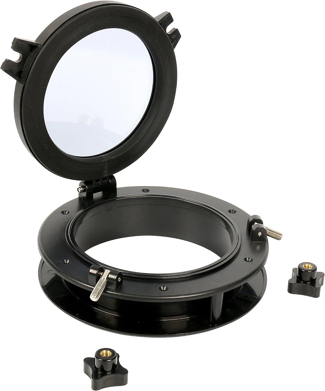 17,8 cm Durchmesser Bullauge mit rundem /Öffnungsfenster aus ABS und klarem Sekuritglas offenes Fenster