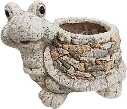 Rustiluz Macetero de jardín imitación Piedra con Forma de Tortuga ...