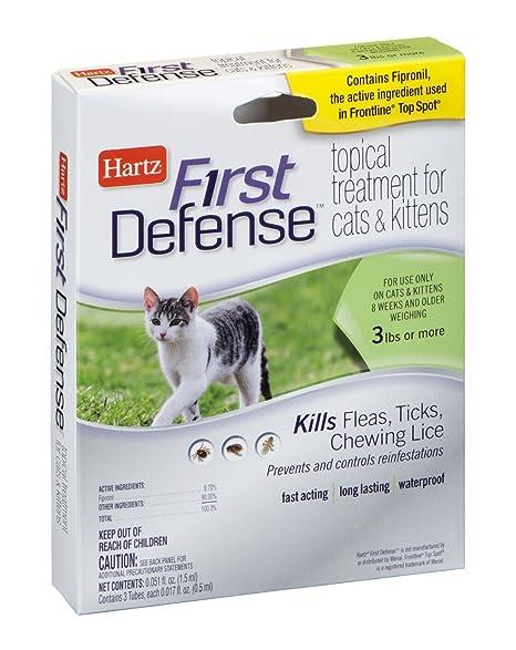 Amazon.com: First Defense Tratamiento Tópico para gatos y ...