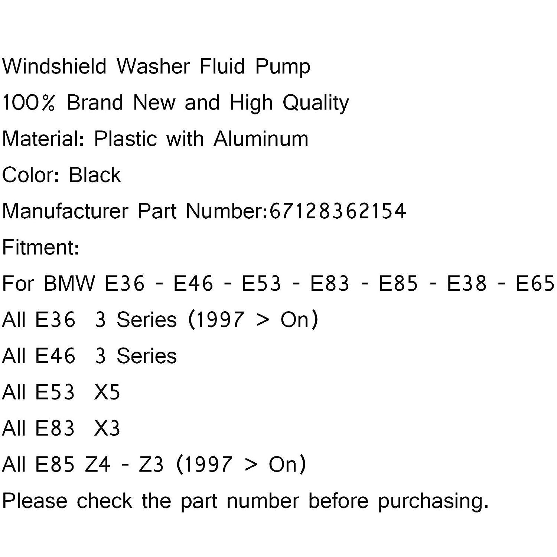 Areyourshop 67128362154 - Bomba para limpiaparabrisas para E46 E38 E39 E60 E65 X3 E53 X5 Z3 Z4: Amazon.es: Coche y moto